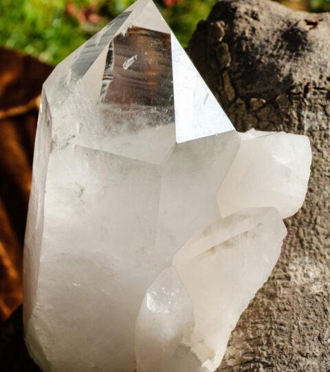 Bergkristall-Einzelspitze Natur