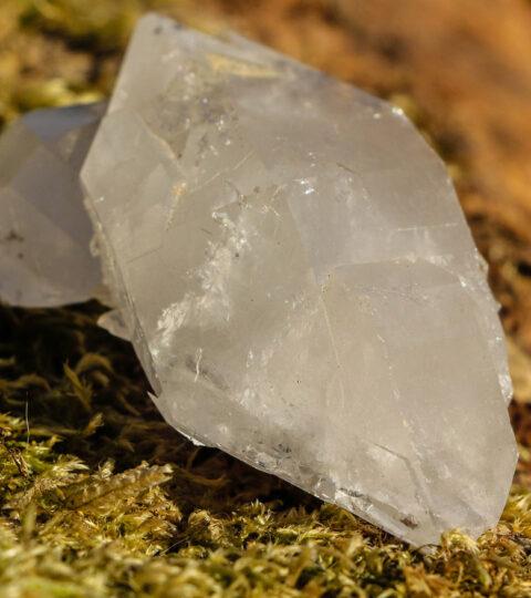Natur-Bergkristall-Doppelender