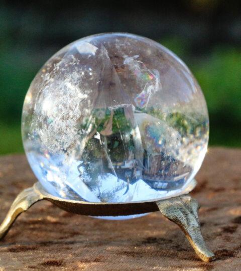 Bergkristall-Kugel