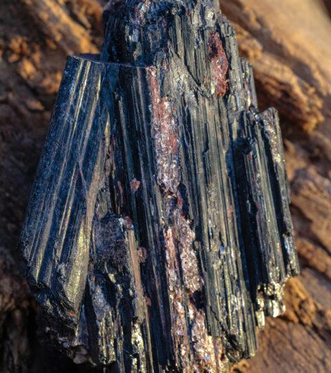 Turmalin, Schwarz (Schörl) Einzelkristall